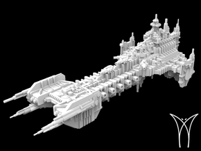 Intrepid class Space Barge in White Natural Versatile Plastic