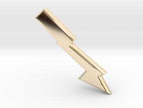 Lightening bolt in 14K Yellow Gold