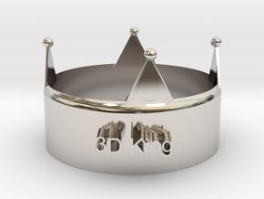 3D King Crown in Platinum