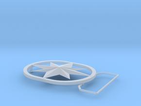 Captain Marvel (Carol Danvers) Belt Buckle in Smooth Fine Detail Plastic