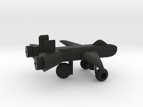 Jet w/ landing gear in Black Premium Versatile Plastic