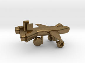 Jet w/ landing gear in Natural Bronze