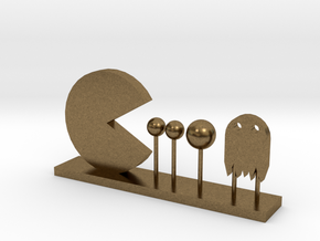 Pacman and Ghost in Natural Bronze