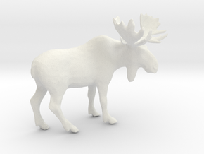 Printle Thing Moose - 1/48 in White Natural Versatile Plastic