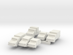 Mantis Series Of Small Light Vehicles in White Natural Versatile Plastic