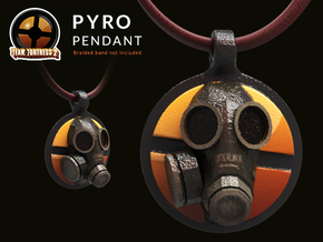 Team Fortress 2 - Pyro Collectible Pendant | Keych in Coated Full Color Sandstone