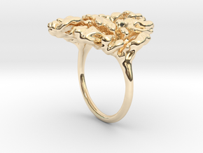 Coral Ring I   in 14K Yellow Gold