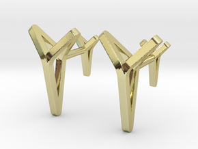 YOUNIVERSAL C. Cufflinks. Pure Elegance for Him in 18k Gold Plated Brass