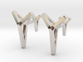 YOUNIVERSAL C. Cufflinks. Pure Elegance for Him in Rhodium Plated Brass