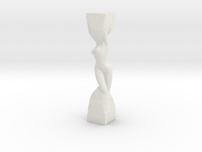 Woman in Stone in White Natural Versatile Plastic