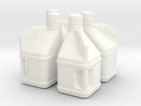 Racing 1/25 5 gal Jug x4 in White Processed Versatile Plastic