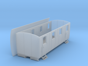 0m Swedish Coach #1 in Smooth Fine Detail Plastic: 1:45