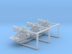 1/350 USN 5 inch 25 (12.7 cm) AA Gun Set in Smooth Fine Detail Plastic