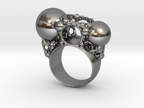 Kleinian Ring in Polished Silver