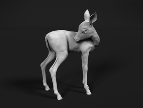 Impala 1:12 Licking Fawn in White Natural Versatile Plastic