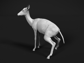 Impala 1:25 Pooping Female in White Natural Versatile Plastic
