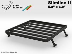 FR10029 Front Runner Slimline II Rack 5.8 x 6.0 in Black Strong & Flexible