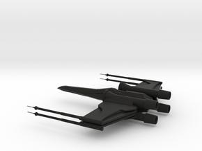 X-Wing in Black Premium Versatile Plastic