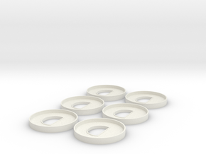 HIC 40mm Ring with D x6 in White Natural Versatile Plastic