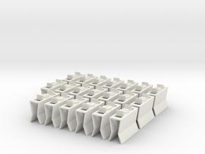 HIC Clips Mix x20 in White Natural Versatile Plastic
