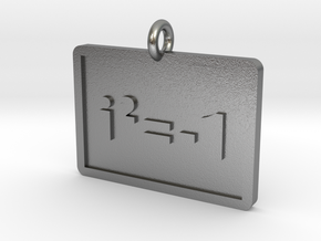 Complex Numbers Pendant in Natural Silver