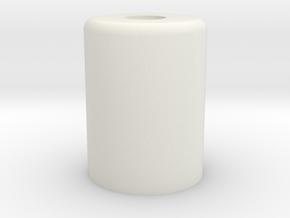 HIC Small Knob in White Natural Versatile Plastic