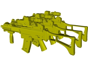 1/48 scale Heckler & Koch G-36C rifles x 3 in Smoothest Fine Detail Plastic