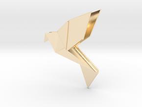 Origami Bird in 14K Yellow Gold