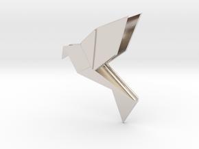 Origami Bird in Platinum