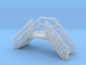 Z Scale Emergency Exit Stairs in Smooth Fine Detail Plastic