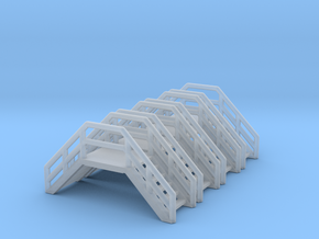 Z Scale Crossover Stairs (4pc) in Frosted Ultra Detail