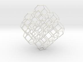 Truncated octahedral lattice in White Premium Versatile Plastic