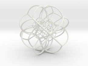 Inverted Rhombic Dodecahedral Lattice in White Premium Strong & Flexible