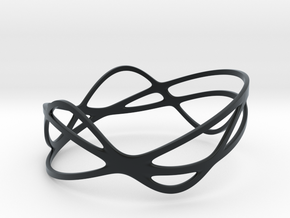 Harmonic Bracelet (67mm) in Black Hi-Def Acrylate