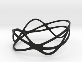 Harmonic Bracelet (67mm) in Black Premium Versatile Plastic