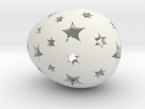 Mosaic Egg #13 in White Premium Versatile Plastic
