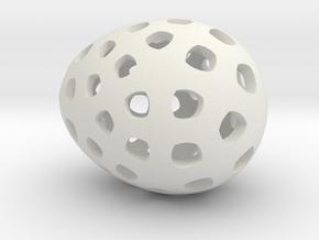 Mosaic Egg #4 in White Premium Versatile Plastic