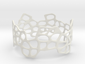 Cells Bracelet (67mm) in White Premium Strong & Flexible