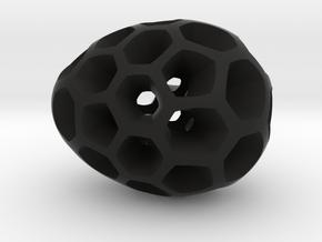 Mosaic Egg #2 in Black Premium Versatile Plastic