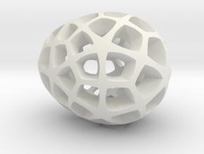 Mosaic Egg #5 in White Premium Versatile Plastic