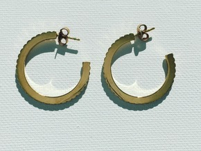 Ingranaggi Hoop Earrings  in 18k Gold Plated Brass