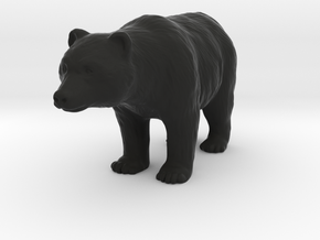 Bear in Black Natural Versatile Plastic: 1:64 - S