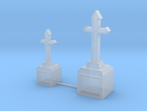 Tombstone Crosses (S) in Smooth Fine Detail Plastic