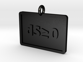 Second Law of Thermodynamics Pendant in Matte Black Steel