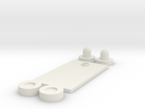 Futuristic PEQ Greebles (Small) in White Natural Versatile Plastic
