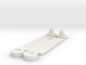 Futuristic PEQ Greebles (Small) in White Strong & Flexible