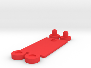 Futuristic PEQ Greebles (Large) in Red Processed Versatile Plastic