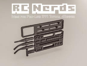 RCN063 Dashboard elements for Toyota 4Runner PL in Black Hi-Def Acrylate