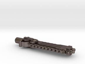Pharma-Saw Weapon in Polished Bronzed Silver Steel: Medium