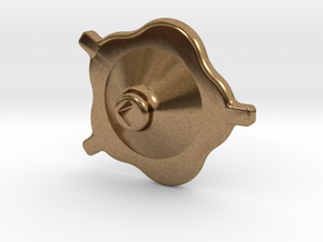"South African Railways Small Valve Handwheel 2.5""  in Natural Brass"